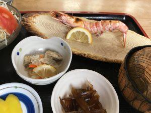車海老の塩焼き定食
